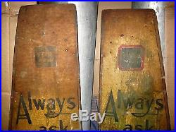 2 Antique USA Sunshine Biscuits Metal Store Rack Shelf Country Advertising Sign