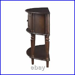 Antique Hall Entry Way Storage Cabinet Half Console Foyer Wood Table 950059