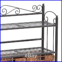 Bakers Rack with Drawers for Kitchens Storage Shelves Plant Stand Iron 3 Drawer