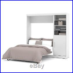 Bestar Nebula Murphy Wall Bed with Attached 1-Door and 3-Shelf Storage Unit