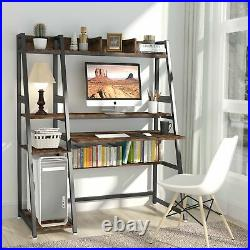 Computer Desk with Hutch and Storage Shelves Study Writing Table for Home Office