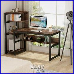Computer Desk with Storage Shelves Tribesigns Large Industrial Home Office Table