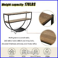 Console Table Modern Accent Side Stand Sofa Entryway Hall Display Shelf Storage