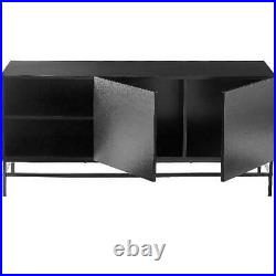 Contemporary Black Console Table for Entryway With Storage Accent Side Cabinet
