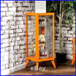 Display Cabinet With Glass Doors For Collectibles Figurines Art Shelves Storage