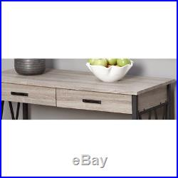 Entryway Table Sofa Console Furniture Rustic Storage Shelf Accent Wood Metal New