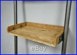 Industrial Retro Shelves. Wood Metal Ladder Style Home Office Storage New