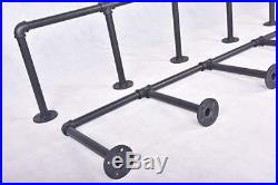Industrial Wall Mounted Pipe Shelving Brackets Storage Shelf Bookcase Set of 4pc