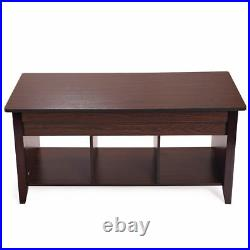 Jaxpety Wooden End Table Lift Top Hidden Storage Shelf Coffee Table Home Decor