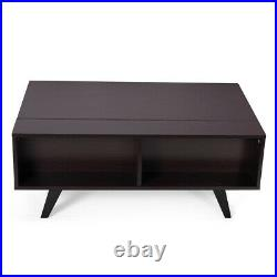 Lift Top Coffee Table Furniture with2 Hidden Compartment Storage Shelf Living Room