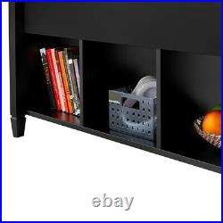 Lift Top Coffee Table withHidden Compartment Storage Shelves for Living Room, Black