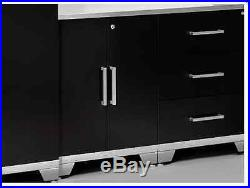 Metal Garage Cabinets Set Commercial Tool Storage Shelves Tall Locker Boxes Rare