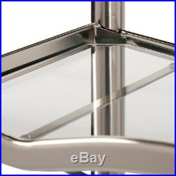 Over-the-Toilet Bathroom Spacesaver Storage With 3 Glass Shelves Brushed Nickel