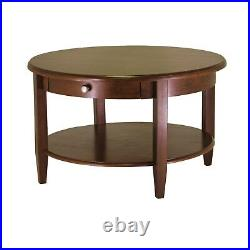 Round Coffee Table Wood Living Room Tables With Storage Small Espresso Classic