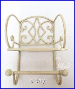 Shabby Chic Toilet Roll Holder & Storage Shelf Wall Mounted French Vintage Style