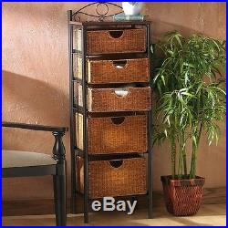 Shelving Units and Storage with Baskets Metal Wicker Drawer Kitchen Bedroom Hall