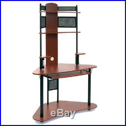 Small Tower Computer Desk Storage Shelf Hutch Corner Student Home Office Table