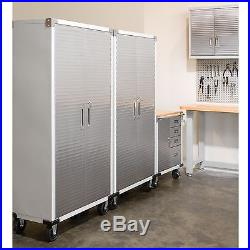 Storage Cabinet With Lock Metal Rolling Garage Tool File Shelving Stainless Stee