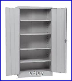 Storage Cabinets For Garage Organizer Metal Shelves Wall Utility Tool Steel