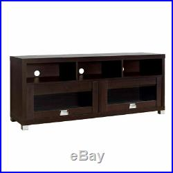 TV Console Wood Stand withCabinet Storage Shelf Furniture fits 55 65 up 75 Inch