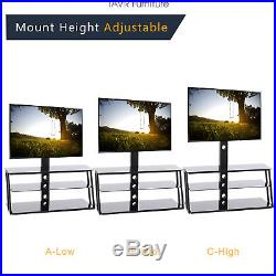 TV Stand with Swivel Mount and Storage Shelves for 32 to 65 inch TVs