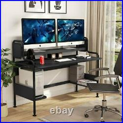 Tribesigns 55 Computer Desk with Storage Shelves, Home Office Studio Workstation