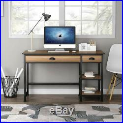 Tribesigns Rustic Lift Top Computer Desk 47'' Desk with Drawers &Storage Shelves