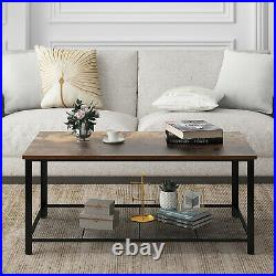 YITAHOME Durable Coffee Table withStorage Shelf Living Room Wood Accent Sofa Table